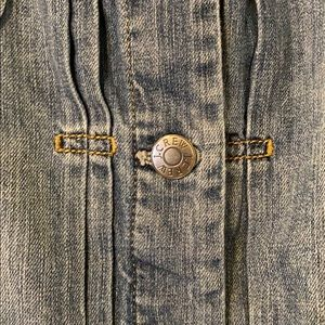 J. Crew Jackets & Coats - J CREW Distressed Denim Jean Jacket XL